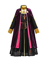 cheap -Anna Dress Party Costume Girls' Movie Cosplay Vacation Dress Halloween Black Dress Cloak Halloween Carnival Masquerade Polyester / Cotton Cotton