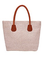 cheap -Women's Bags Polyester / Straw Top Handle Bag Zipper for Daily / Date Almond / Brown / Beige / Coffee