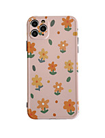 cheap -Case For Apple iPhone 7 plus 8 plus XR XS XS MAX X SE 11 11Pro 11ProMax Pattern Back Cover TPU  Flower