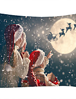 cheap -Snowflake Christmas Digital Printed Tapestry Classic Theme Wall Decor 100% Polyester Contemporary Wall Art Wall Tapestries Decoration