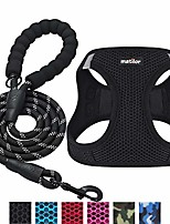 cheap -2 packs dog harness step-in breathable puppy cat dog vest harnesses for small medium dogs