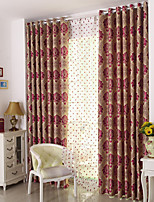 cheap -Two Panel European Style Jacquard Curtains Living Room Bedroom Dining Room Blackout Curtains