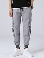 cheap -Men's Hiking Pants Hiking Cargo Pants Winter Outdoor Loose Breathable Soft Comfortable Multi-Pocket Cotton Pants / Trousers Bottoms Black Grey Hunting Fishing Climbing S M L XL XXL / Wear Resistance