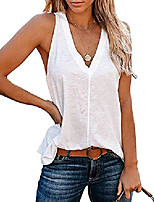 cheap -women& #39;s summer basic sleeveless v neck casual tank tops & #40;white,large& #41;
