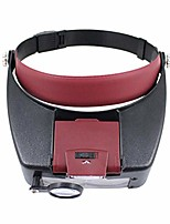 cheap -led headband magnifier hands free lighted magnifying glasses for reading jewelry loupe watch repair