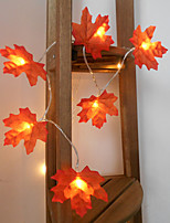 cheap -3M 20LED Maple Leafs LED String Lights Battery Operated Fairy Light Christmas Wedding Garden Party Family Party Stair Railing Room Decoration Without Battery