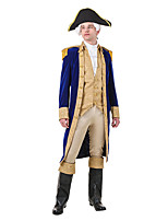 cheap -Cupid Cosplay Costume Outfits Adults' Men's Cosplay Halloween Halloween Festival / Holiday Polyester Blue Men's Easy Carnival Costumes / Cravat / Coat / Vest / Pants / Hat