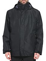 cheap -Men's Hiking Jacket Hiking Windbreaker Winter Outdoor Thermal Warm Windproof Fleece Lining Breathable 3-in-1 Jacket Winter Jacket Top Full Length Visible Zipper Camping / Hiking Hunting Fishing Black