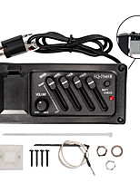 cheap -NAOMI Acoustic Guitar Preamp Amplifier EQ Pickup 7545R  Professional 4 Band Pickup 6.5MM Output Acoustic Guitar Acceseories
