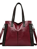cheap -Women's Bags PU Leather Top Handle Bag Zipper for Daily / Outdoor Wine / Black / Blue
