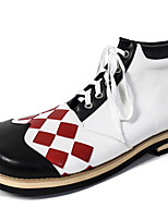 cheap -Burlesque Clown Magician Shoes Adults' Men's Halloween Halloween Festival / Holiday leatherette White Men's Women's Easy Carnival Costumes