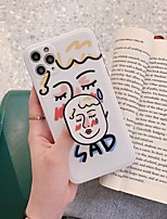 cheap -Case For Apple iPhone 7 8 7plus 8plus X XR XS XSMax SE(2020) iPhone 11 11Pro 11ProMax Ring Holder IMD Frosted Back Cover Word Phrase Cartoon TPU