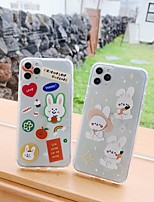 cheap -Case For Apple iPhone 7 7Plus iPhone 8 8Plus iPhone X iPhone XS XR XS max iPhone 11 11 Pro 11 Pro Max SE Pattern Back Cover Transparent Cartoon TPU