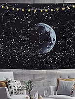 cheap -wall tapestry, moon constellations bohemian hippie tapestry psychedelic black and white wall hanging tapestry for home decor bedroom living room, large 79x58 inches