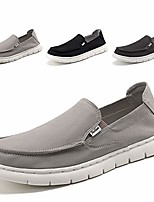 cheap -mens deck shoes slip on casual summer canvas shoe loafers wide width beige