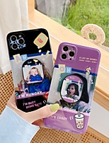 cheap -Case For Apple iPhone 7 8 7plus 8plus X XR XS XSMax SE(2020) iPhone 11 11Pro 11ProMax Ring Holder IMD Pattern Cute Girls Back Cover Word Phrase TPU