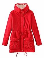 cheap -women's winter warm faux lamb wool coat parka cotton outwear jacket us medium red