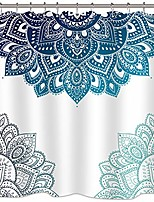 cheap -henna mandala shower curtain south asian blue white flower bathroom decor fabric for bathtub 72x78 inch included 12 pack plastic shower hooks