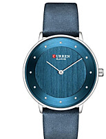 cheap -CURREN Women's Quartz Watches Quartz Formal Style Modern Style Minimalist Water Resistant / Waterproof Genuine Leather Red / Green / Grey Analog - Rose Gold Blue Red One Year Battery Life / Japanese