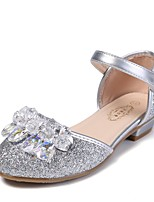 cheap -Girls' Flats Flower Girl Shoes PU Glitter Crystal Sequined Jeweled Little Kids(4-7ys) / Big Kids(7years +) Walking Shoes Rhinestone / Sparkling Glitter Blue / Pink / Silver Spring / Summer