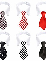 cheap -bow tie dog collar, 6 pieces adjustable pets dog cat neck ties pet necktie with suit white collar for medium large dogs tuxedo costumes grooming accessories, dog tux ties for wedding