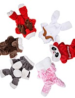cheap -Dog Cat Costume Solid Colored Cosplay Dog Clothes White Red Brown Costume Flannel Fabric XS S M L XL XXL