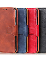 cheap -Case For Samsung Galaxy NOTE 20/NOTE 20 PLUS/NOTE 20 ULTRA/M11/A41/A70E/M21/A71 5G/A51 5G/A21S//M01 Card Holder / Shockproof / Dustproof Full Body Cases Solid Colored PU Leather