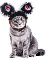 cheap -Dog Cat Halloween Costumes Bandanas & Hats Cartoon Cute Illuminated Christmas Party Dog Clothes Breathable Costume Plush S M