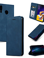 cheap -Case For ASUS ZC554KL ZE620KL ZS620KL Card Holder Flip Full Body Cases Solid Colored PU Leather TPU