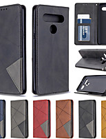cheap -Case For LG K61 LG K51 Wallet Card Holder with Stand Full Body Cases Diamond Dark Magnet PU Leather TPU