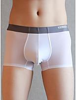 cheap -Men's Basic Boxers Underwear - Normal Low Waist Light Blue White Black M L XL