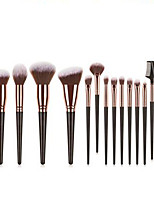 cheap -Professional Makeup Brushes 15pcs Professional Soft Full Coverage Comfy Artificial Fibre Brush Plastic for Eyeliner Brush Makeup Brush Eyeshadow Brush