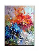 cheap -100% Hand painted By Professional Artist Flower painting Abstract Landscape Oil Painting On Canvas Living Room Home Decor Gold Art Rolled Without Frame