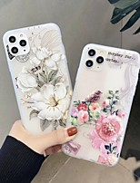 cheap -Case For  iPhone 5 5C 5S SE 6 6s 7 8 6plus 6splus 7plus 8plus X XR XS XSMax SE(2020) iPhone 11 11Pro 11ProMax Ultra-thin Transparent Pattern Back Cover Animal Flower TPU
