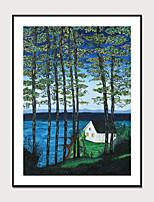 cheap -Framed Art Print Framed Van Gogh Abstract Landscape PS Oil Painting Wall Art