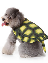 cheap -Dog Halloween Costumes Costume Shirt / T-Shirt Animal Casual / Sporty Cute Christmas Party Dog Clothes Breathable Green Costume Polyester S M XL
