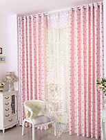 cheap -Two Panel Children's room Cartoon Style Love Jacquard Curtains Living Room Bedroom Dining Room Curtains