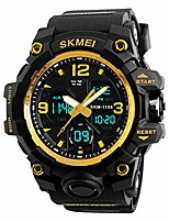 cheap -mens digital watches 50m waterproof outdoor sport watch military multifunction casual dual display stopwatch wrist watch - black gold