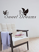 cheap -Letter Wall Stickers Decorative Wall Stickers, PVC Home Decoration Wall Decal Wall Decoration / Removable