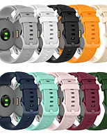 cheap -18MM Silicone Strap For Garmin Vivoactive 4S Smart Watch Strap Texture Sport Watch band Replacement Band Bracelet