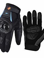 cheap -street bike full finger motorcycle gloves 09 (xl, black/blue)