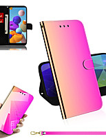 cheap -Case For Samsung Galaxy M30S M21 Note 10 S8 S8 Plus S9 S9 Plus A70S A51 A71 S20 Galaxy A90 5G A20S Card Holder Flip Full Body Cases Solid Colored PU Leather