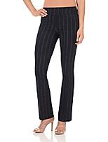 cheap -women's ease into comfort boot cut pant (4,navy stripe)