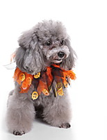cheap -Dog Halloween Costumes Bandanas & Hats Pumpkin Casual / Daily Cute Christmas Party Dog Clothes Breathable Orange Costume Polyster S M L