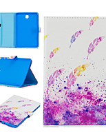 cheap -Case For Samsung Galaxy Tab E T560 Card Holder Shockproof Pattern Full Body Cases PU Leather TPU  magnetic buckle Feathers