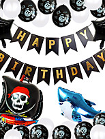 cheap -Party Balloons 40 pcs Pirates Party Supplies Latex Balloons Banner Boys and Girls Party Birthday Decoration 12-18inch for Party Favors Supplies or Home Decoration