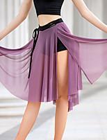 cheap -Latin Dance Skirts Split Bandage Women's Performance Natural Crystal Cotton