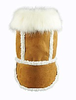 cheap -faux shearling pet jacket for dog winter coats hooded clothes brown
