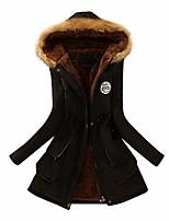 cheap -Women coats winter warm long coat fur collar Wear Resistance Windproof Thermal / Warm outwear Wear Resistance Scratch Resistant Climbing Camping / Hiking