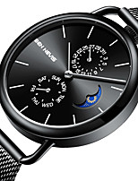 cheap -BEN NEVIS Men's Sport Watch Quartz Sporty Stylish Casual Water Resistant / Waterproof Stainless Steel Genuine Leather Analog - Digital - Black Blue